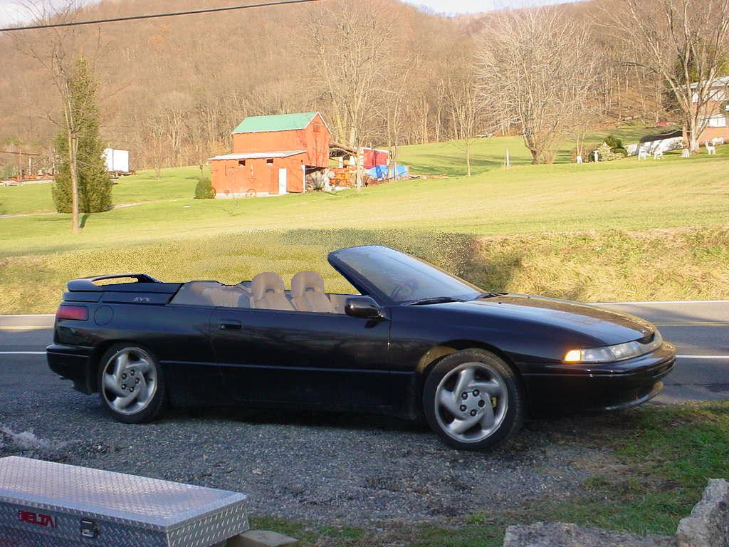 what an svx convertible might have looked like the subaru svx Subaru SVX the trademark windows which define the svx would be missing the challenge would be to design the top which would not destroy the lines of the car